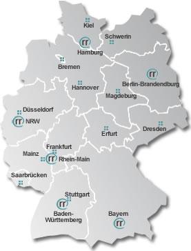webgrrls-Regionalgruppen in Deutschland